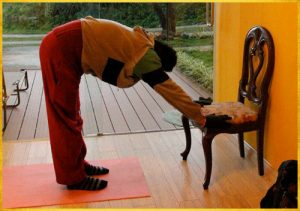Chair yoga for students with injuries