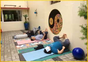 Wall yoga Butterfly(Inner thigh stretch)